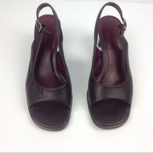 Naturalizer Low Heel Slingback Open Toe Brown 6.5W